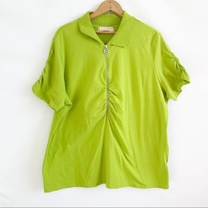 Michael Kors Top 2x Lime Green  Short Sleeve